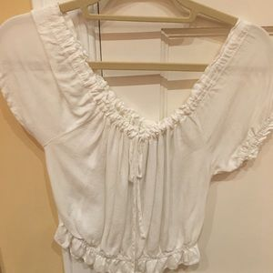 NWT Brandy Melville white cropped top